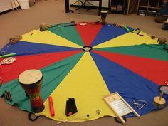 Music Therapy Activities, Preschool Activities, Music Activities For Kids, Movement Activities, Kindergarten Music, Teaching Music, Parachute Games, Music And Movement, Primary Music