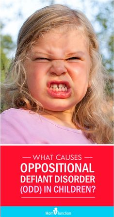What Causes Oppositional Defiant Disorder (ODD) In Children? Are you tired of your child's mood swings? Is her aggressiveness creating trouble at school? Then she might suffer from Oppositional Defiant Disorder. by sally Odd Disorder, Spectrum Disorder, Disorders, Adhd Odd, Adhd And Autism, Oppositional Defiance, Oppositional Defiant Disorder Strategies, Defiance Disorder, Conduct Disorder