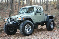 AEV Brute with a flatbed.