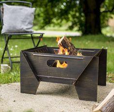 Modern Bronze Steel Fire Pit