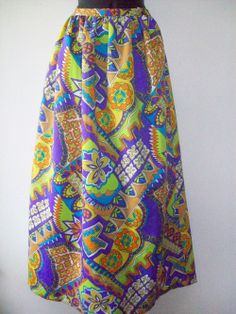 Small Vintage 1960 Maxi Skirt
