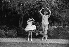 Lauren Bacall with Daughter Leslie Bogart at home in Beverly Hills CA.1958