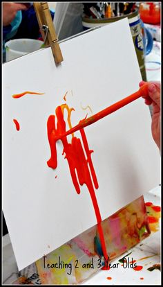 Teaching 2 and 3 Year Olds: Drip Painting