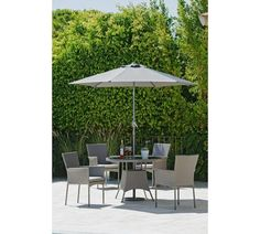 Buy Collection Havana Rattan Effect 4 Seater Set at Argos.co.uk, visit Argos.co.uk to shop online for Garden table and chair sets, Garden furniture, Home and garden