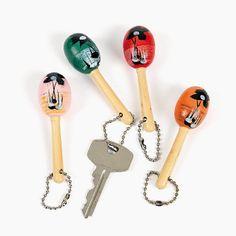 $5.00 per 12 Mini Maraca Key Chains - OrientalTrading.com