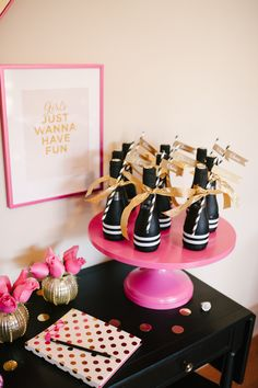A Chic and Swanky Kate Spade Inspired Dinner Party - Could work for a Bridal Shower too!