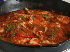 Pescado à la veracruzana is one of the most famous seafood dishes of Veracruz on the Caribbean coast of eastern Mexico. The ingredients and seasonings show a strong Spanish influence. 4-6 servings