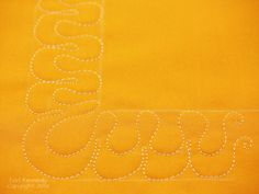 """Corners-For Free Motion Quilting - The Inbox Jaunt - corner to go with """"Ribbon Candy"""" border"""