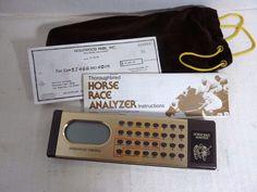 Vintage Electronic Horse Race Analyzer Computer Handicap Throroughbred Mattel #Mattel