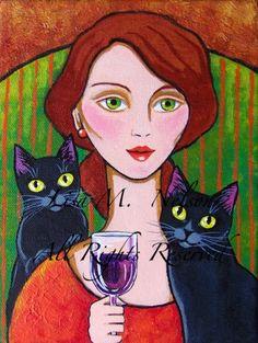 Magnifiques peintures de chats by Lisa Monica Nelson - BONHEUR DE LIRE