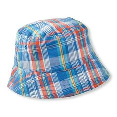 f8725c42c38 Amazon.com  Blue Ink Plaid Bucket Style Sun Hat (12-18 months)  Baby.  Newborn Boy ClothesNewborn ...