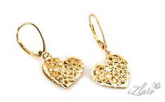 1b2ec95e7 Earring gold - Visiace náušnice srdiečka Francoise 8, pre ženy (IZ4536) |  iZlato.sk