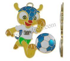 Zinklegierung Anhänger, Gürteltier, goldfarben plattiert, 2014 Brasilien Weltmeisterschaft Geschenk & Emaille, frei von Nickel, Blei & Kadmi...
