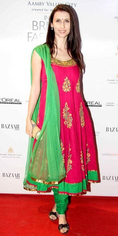 Claudia Ciesla on Day 5 of the Amby Valley India Bridal Fashion Week.