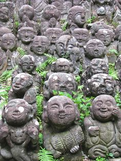 Otagi Nenbutsu-ji Temple in Kyoto, Japan - Carved Rakan, or Buddhist Disciples