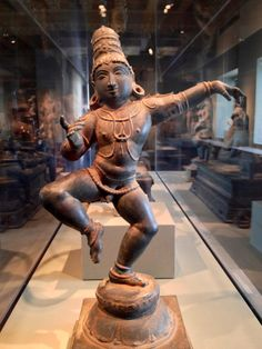 Sambandar, the poet-saint, 1200-1400 India; Tamil Nadu state. Probably born around the year 600, Sabandar was said to begin composing poems to Shiva when he was a small child. Here he is shown as a child, dancing in devotion. His poems were collected and continue to be sung in southern Indian temples today. This bronze is part of the permanent collection at the Asian Art Museum, SF.