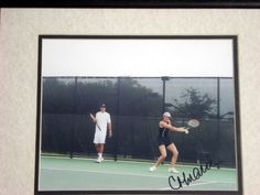 CORINA MORARIU FRAMED SIGNED PHOTO tennis collectible
