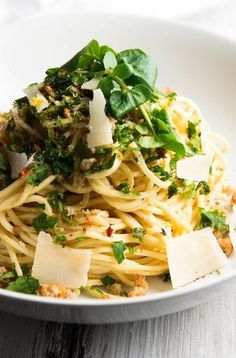 Garlic Butter White Wine Pasta with Fresh Herbs