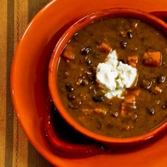 If your body is starting to scream after too much rich holiday food, this vegetarian black bean and sweet potato soup is light but warm and comforting.