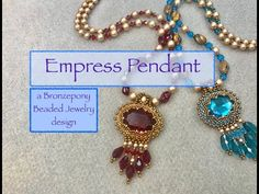 (119) Empress Pendant - YouTube Diy Jewelry Inspiration, Beaded Jewelry Designs, Schmuck Design, Crystal Beads, Beaded Necklace, Jewelry Making, Beading Tutorials, Jewellery, Ideas