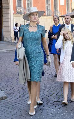 Queen Maxima of the Netherlands and her youngest daughter Princess Ariane during the baptism of Prince Carlos Enrique Leonard, hereditar...