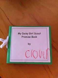 Daisy Girl Scout Promise book... on a nice Troop website