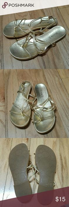 2 pairs; gently used; Gold and silver women's sandals; gently used Shoes Sandals