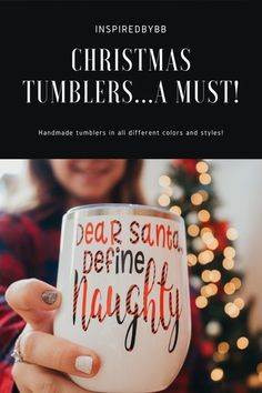 This funny Christmas tumbler will keep your drinks hot or cold for hours and is the perfect tumbler for the holiday season. Each tumbler comes with a reusable straw and a lid that can be used with or without a straw. The design is made with a permanent vinyl and is hand wash only.