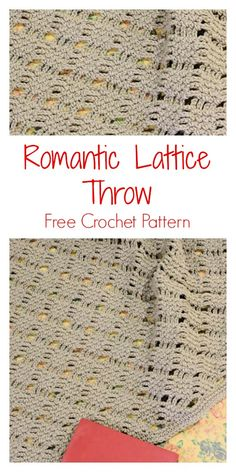 Crochet Afghans 831477149928830961 - CrochetKim Free Crochet Pattern: Romantic Lattice Throw lace Source by margotedavergne Crochet Afghans, Motifs Afghans, Crochet Throw Pattern, Afghan Crochet Patterns, Crochet Shawl, Knitting Patterns, Crochet Blankets, Free Knitting, Throw Blankets
