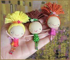 matu-k Doll Crafts, Fun Crafts, Diy And Crafts, Crafts For Kids, Fabric Toys, Handmade Baby, Handmade Dolls, Tiny Dolls, Sewing Dolls