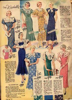 Women's Fashion In the United States - The 1930s Wiki, Spring1934cottondresses2.JPG