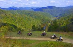 Family ATV trip through the Hatfield Mccoy Trails places-i-want-to-go Atv Riding, Trail Riding, Hatfields And Mccoys, Forest Service, The Ranch, Outdoor Camping, Wilderness, Places To Visit, World