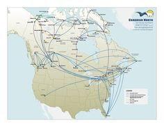 Canadian North Route Map 2015