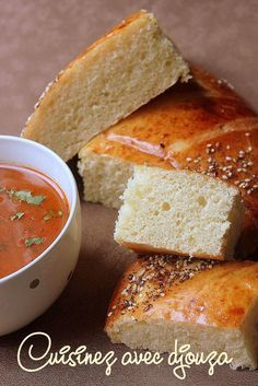 Algerian Recipes, Cooking Recipes, Healthy Recipes, Pan Bread, Bread And Pastries, Middle Eastern Recipes, French Food, Naan, Cornbread