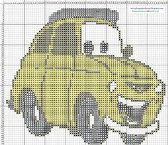 Dibujos Punto de Cruz Gratis: Cars