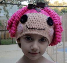 I can make this! Lalaloopsy Crochet hat!