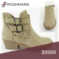 DAILY DEAL💕5⭐Buckled Low Heel Bootie Perfect bootie for spring and summer!! Low heel. Wear with anything. Buckles on side and zipper in the back. 2 inch heel. So comfy! Shoes Ankle Boots & Booties