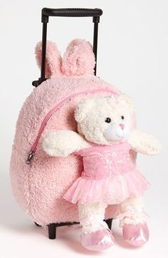 Popatu 'Trolley' Rolling Backpack (Kids) available at Girls Accessories, Handbag Accessories, Girls Rolling Backpack, Kids Checklist, Wild Style, Diaper Covers, Kids Backpacks, Happy Kids, Purses And Bags