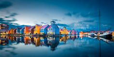 """These colorful houses at the Reitdiephaven in Groningen are one of my favorite spots for photography. Naturally I had to go test my new camera there during blue hour, hope you like it!  Revisited the image and tweaked it a bit more in post.  If you like this, please also follow me on <a href=""""https://www.facebook.com/maartenmensinkphoto"""">Facebook </a> and check out <a href=""""www.maartenmensink.com"""">my website</a>."""