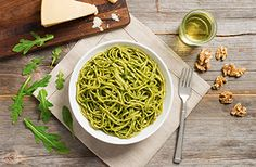 Arugula Walnut Pesto on Linguine Recipe on Yummly