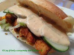 Les plats cuisinés de Esther B: Sous-marin au poulet avec sauce Southwest