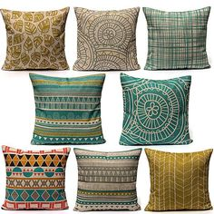 Description: Brand New and high quality. Fashion design,Colorful geometric patterns decorate your home wonderful. Durable and environmentally friendly material,easy to clean Perfer for home, bedroom, room, office, coffeeshop, ect It is the happiest moment in the world to lay down after a hard...