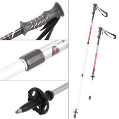 Expedition tested trekking pole made from Alluminium alloy 6013 with its strength and rigidity based upon a 3 section design. An ergonomic bidensity rubber grip offers support and comfort on the steepest peaks.
