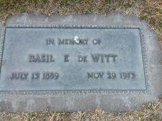 Basil E DeWitt BillionGraves Headstone Record