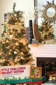 A neutral and gold Christmas tree with DIY ornaments