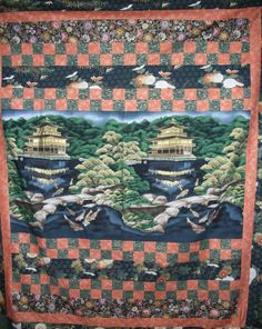 Asian Lap or Wall quilt by QuiltingMyWay on Etsy, $125.00