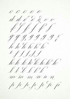 Pencil Calligraphy, Calligraphy Letters Alphabet, Calligraphy Tutorial, Copperplate Calligraphy, Hand Lettering Tutorial, Typography Alphabet, How To Write Calligraphy, Calligraphy Handwriting, Calligraphy Quotes