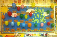 Soar Into Spring Bulletin Board