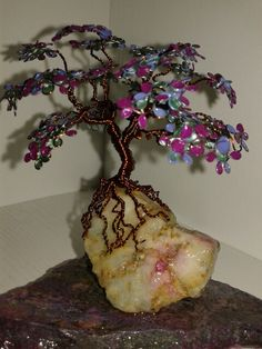 Wire trees with nail polish
