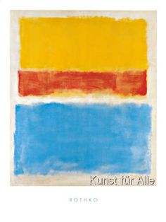 Untitled (Yellow, Red and Blue) Mark Rothko Art Print Abstract Poster Blue Framed Art, Framed Art Prints, Framed Artwork, Blue Art, Mark Rothko Paintings, Rothko Art, Abstract Expressionism, Abstract Art, Blue Poster